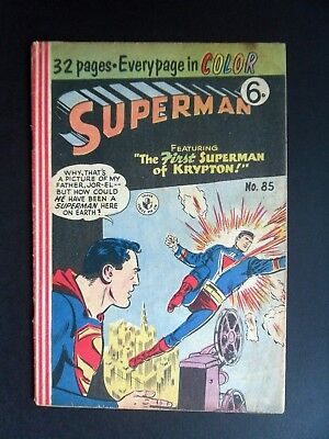 Superman #85 1957 Murray/Atlas UK Edition - How His Hair Is Cut?: Answered!