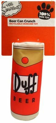 Dog Toy The Simpsons Duff Beer Can Crunch Crinkle RRP £8