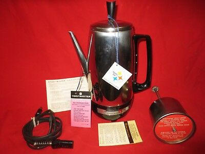 VTG Electric Toastmaster MINT 1950 Percolator Coffee Pot Maker 3-12 cups Chrome