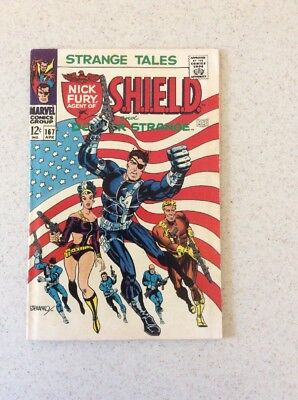 Strange Tales # 167 F- . Classic Steranko Cover. Flag Cover With Nick Fury