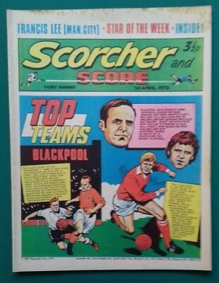 Scorcher and Score comic. 1 April 1972. Blackpool cover