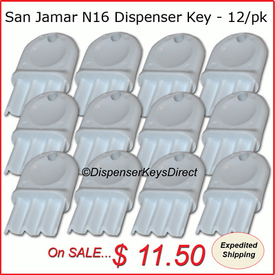 San Jamar N16 Dispenser Key for Paper Towel & Toilet Tissue Dispensers (12/pk.)