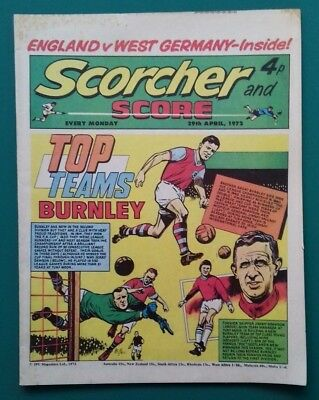 Scorcher and Score comic. 29 April 1972. Burnley cover