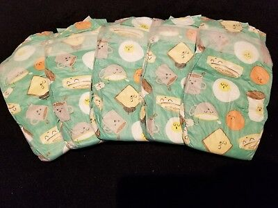 The Honest Company•°°•BREAKFAST•°°•print diapers, Reborn or baby, sz  1 set of 5