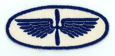 """WW2 US unknown blue flying cadet 4.5"""" wide patch SSI"""
