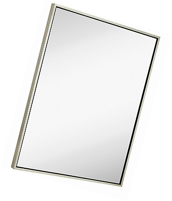 clean large modern antiqued silver frame wall mirror contemporary