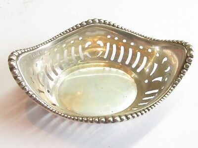 RARE ANTIQUE HANDCRAFTED NUT MINT Dish STERLING SILVER 22 GRAMS ANT#159