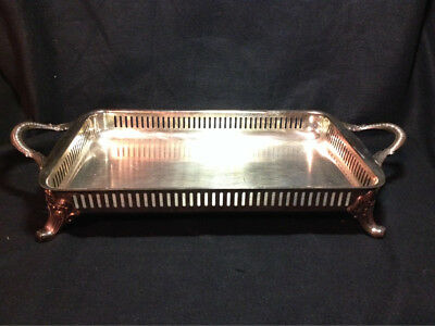 Bristol Silverplate by Poole Vintage footed serving tray
