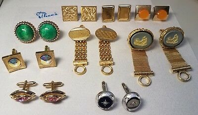 Vintage Cufflinks Lot of 9 Pair NICE MIXED LOT