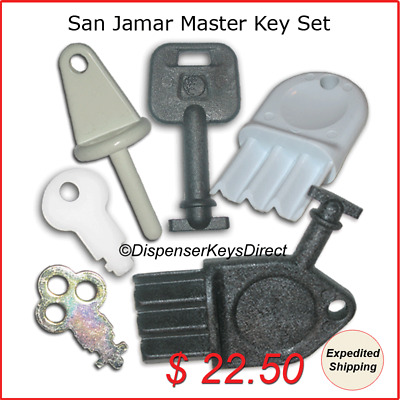 San Jamar Master Key Set for Paper Towel, Toilet Tissue & Liquid Soap Dispensers