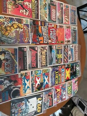 Huge Lot Of 36 Marvel Comic Books Xfactor Spider-Man Avengers Copper/modern Age