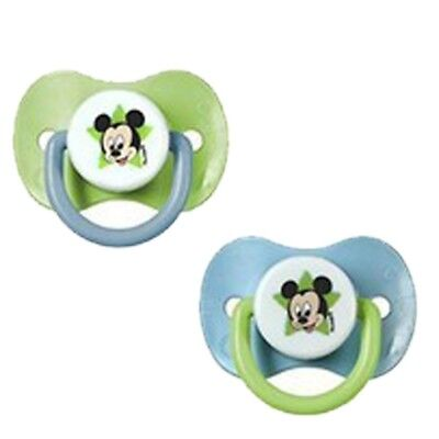 Pack 2 Chupetes Caucho Mickey - Colores - Azul y Verde