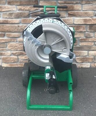 """Greenlee 555CX Hydraulic Pipe Bender 1/2""""-2"""" EMT Shoe & Roller **AWESOME**"""