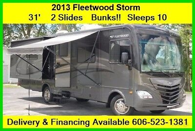 2013 Fleetwood Storm Used Gas Motor Home Coach Ford Bunks MH RV 31' Class A V10