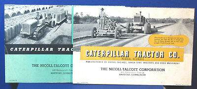 Vintage Caterpillar Tractor Co.Road Construction Equipment Sale Brochure Catalog