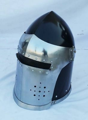 Roman Medieval Knight Helmet Barbute Armour Helmet with Inner Line