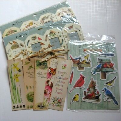 Lot 16 New Marjolein Bastin Nature's Sketchbook Hallmark Bookmarks Frame Magnets