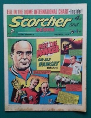 Scorcher and Score comic. 12 May 1973. Sir Alf Ramsey cover