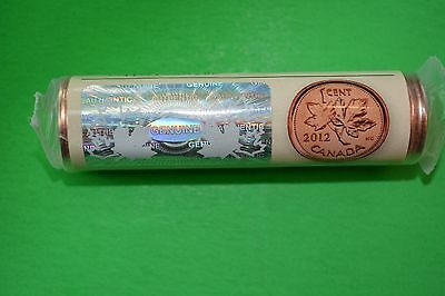 Canada last rolls 1cent 2012 UNC  Red from RCM whit hologram. Copper plated zinc