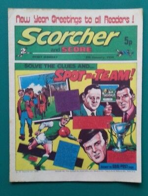 Scorcher and Score comic. 5 January 1974. Ray Clemence George Armstrong