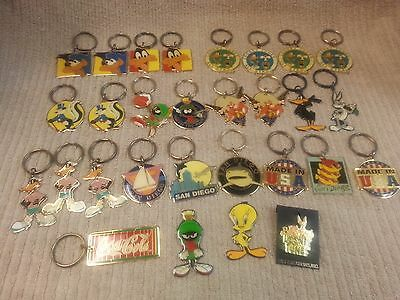 Lot Of 26 Keychains Looney, San Diego, Coca Cola Plus 2 Magnets & A Looney Pin