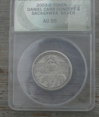 2003-D Daniel Carr Concept $ Sacagawea with Peace Silver 25 Minted! Read All!