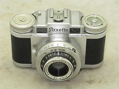 Braun Paxette Ib Camera with Staeble Kata 45mm f2.8 lens and Case