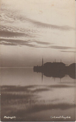Orkney - Kirkwall Bay - Midnight -Real Photo -   Postcard #