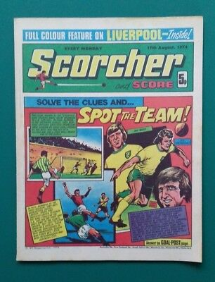 Scorcher and Score comic. 17 August 1974 Liverpool