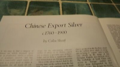 1970s/1980 Antique Magazine article on Chinese Export Silver 1760 - 1900