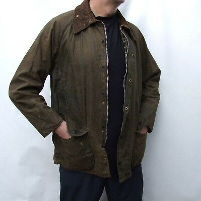 BARBOUR   BEAUFORT Cotton Waxed  Jacket  in green  size 40-42