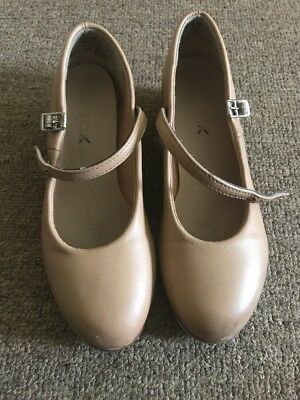 tap shoes size 1.5 beige leather upper very good condition