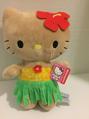 "New Cute Sanrio 11"" Hello Kitty Plush Hawaii Tanned Soft Stuffed Plush Toy"