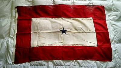 "RARE Vintage US 29x47"" SON IN SERVICE Single Star WWII Era American Flag LQQK!!"