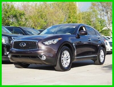 2017 Infiniti QX70 Base Sport Utility 4-Door 2017 INFINITI QX70 3.7L V6 24V Rear Wheel Drive Brown