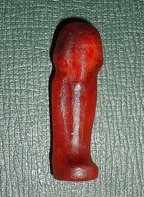 Rare Antique,Ancient Egyptian Carnelian Ushabti,Shabti,23rd Dynasty 945-720 BC