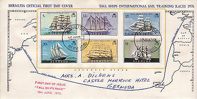 Bermuda 1976 First Day Cover Stamps - Tall Ships Sail Training Races