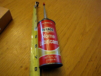 Vintage Texaco Home Lubricant  Oil Can With Long Metal Spout