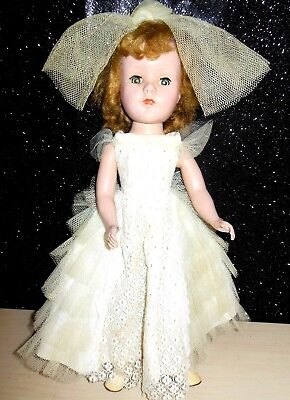 """Vintage 1950'S AMERICAN CHARACTER BRIDE DOLL SWEET SUE 14"""" Hard Plastic GUC"""