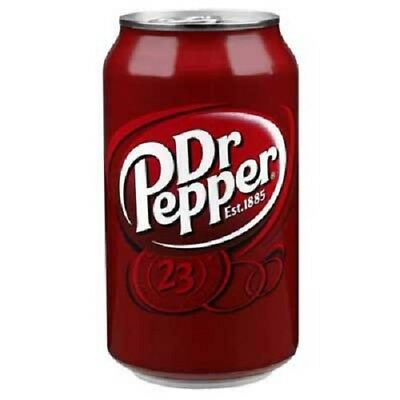 6 x USA Dr. Pepper Original Flavour Soda Drink in 330 ml Can.