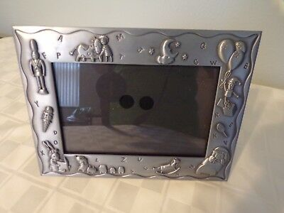 silver baby picture frame