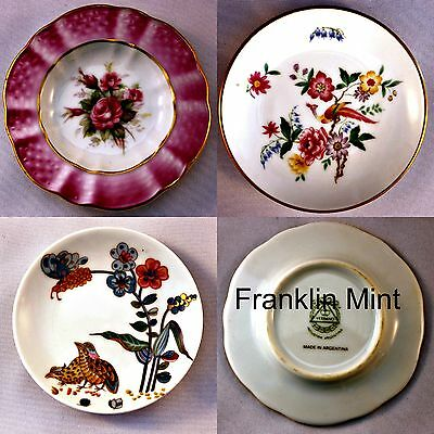 Franklin Mint  'Great Porcelain Houses of the World' Miniature plates LOT of 3
