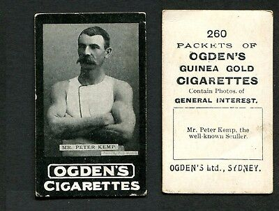 1901 Ogdens Sydney tab #260 Mr Peter Kemp the well known sculler card