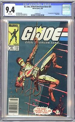 G.i. Joe A Real American Hero #21 Cgc 9.4 - Newsstand White Nm Silent Issue