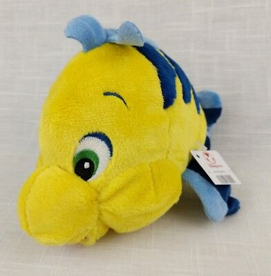Disney Store Genuine Exclusive Flounder Little Mermaid Plush - NEW WITH TAGS