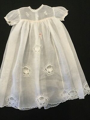 Antique Baby Sheer Dress Cover