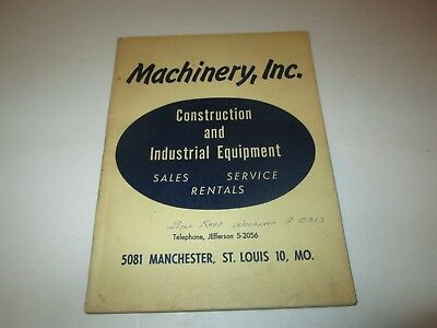 Machinery Inc. catalog No. 3 - St. Louis (1954) construction and industrial