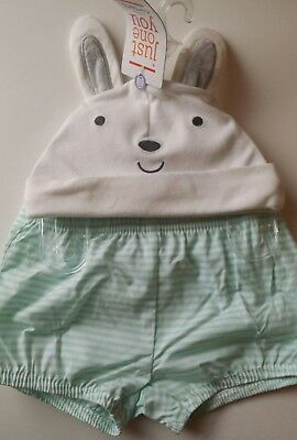 NWT Carter's Just One You Bunny Hat & Diaper Cover 3-6 M