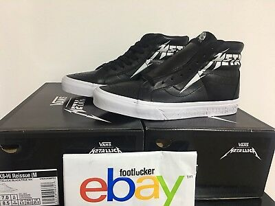 1a5d2d9f4b7f NIB Vans x Metallica Kirk Hammett SK8-HI Reissue Black Leather Men s Size 5-