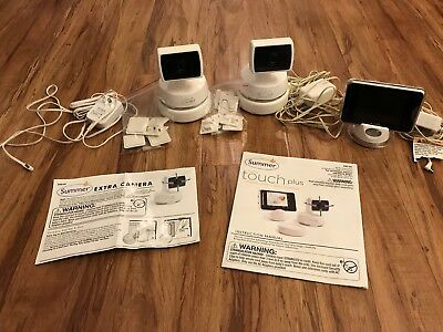 Summer Baby Monitor Touch Plus Digital Color Video 2 Cameras Battery Packs 28520